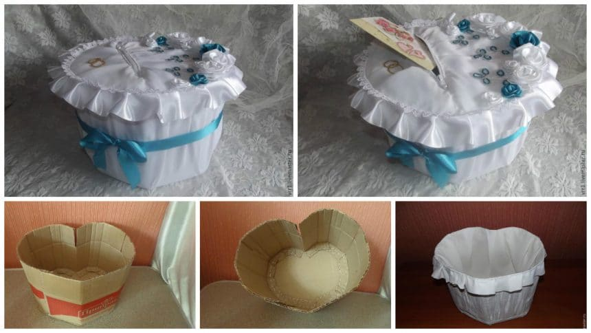 "How to create a wedding piggy bank ""Heart"""