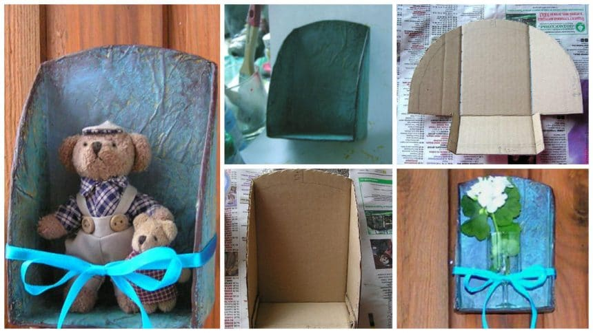 How to make cardboard shelf for small toys