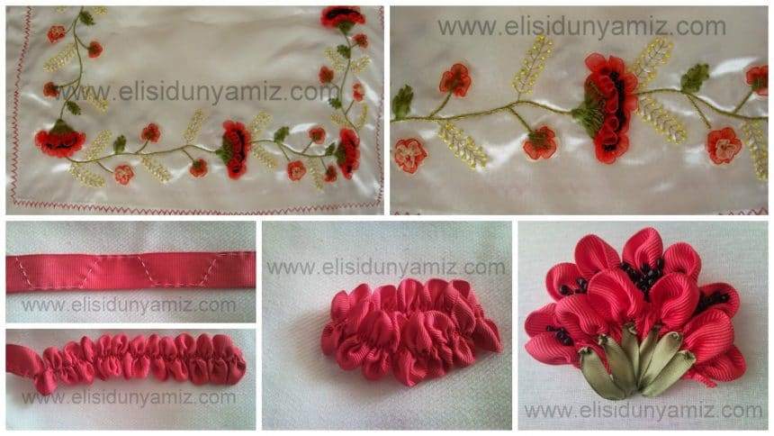 How to embroidered a poppy from ribbon