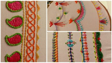 Hand embroidery stitches tutorial for beginners