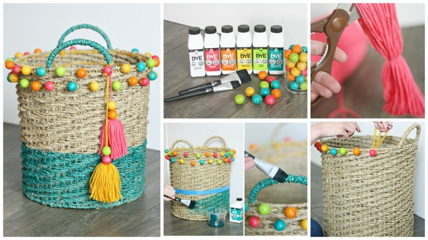How to make beaded dipped basket