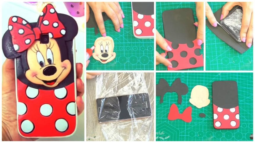 How to make a phone case inspired in minnie mouse