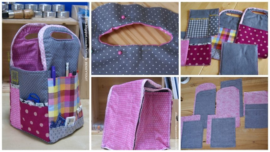 How to make small sewing basket