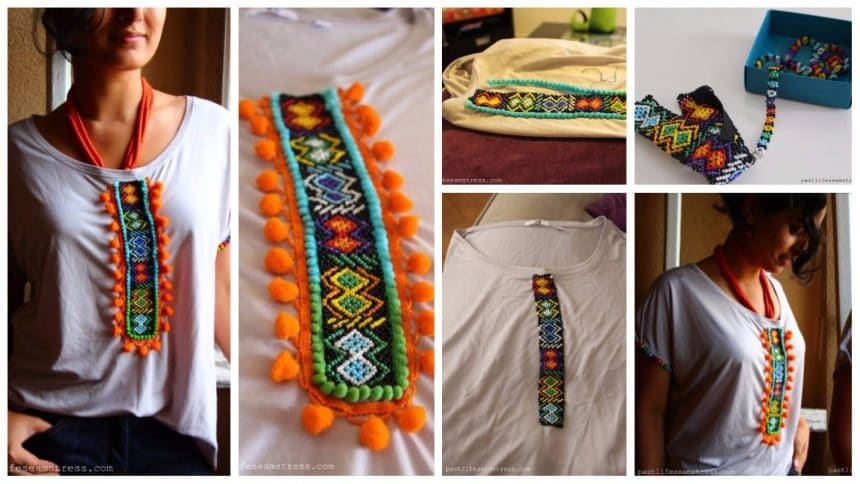 How to make tribal art designer kurthi