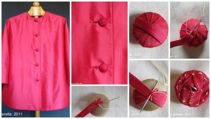 "How to sew Chinese-style ""Coolie"" jacket button"