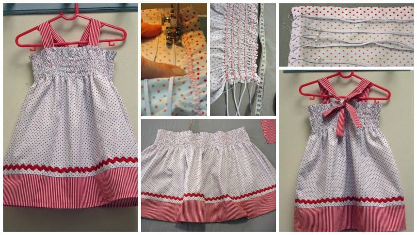 ZigZag shirring tutorial and toddler dress pattern