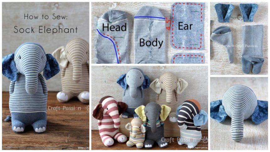 How to sew a sock elephant
