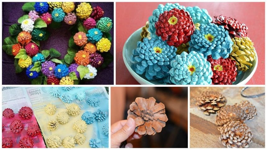 How to make your own pine cone zinnias