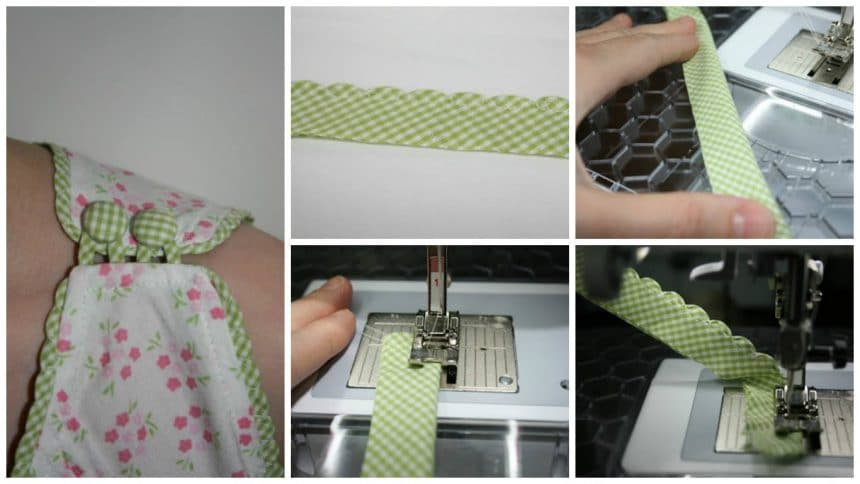 How to sew scalloped piping for armhole or neckline
