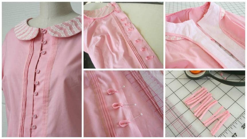 How to make button loops for the Violet blouse