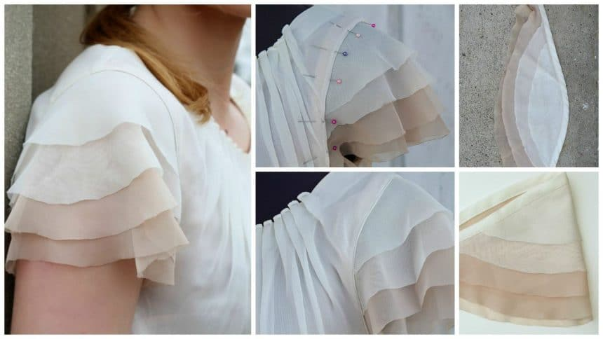 How to sew a  flutter sleeves