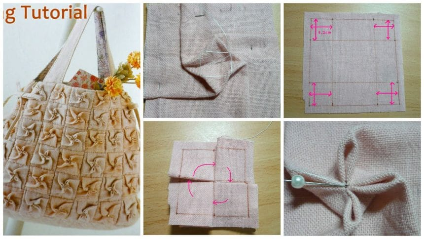 How to make origami flower bag