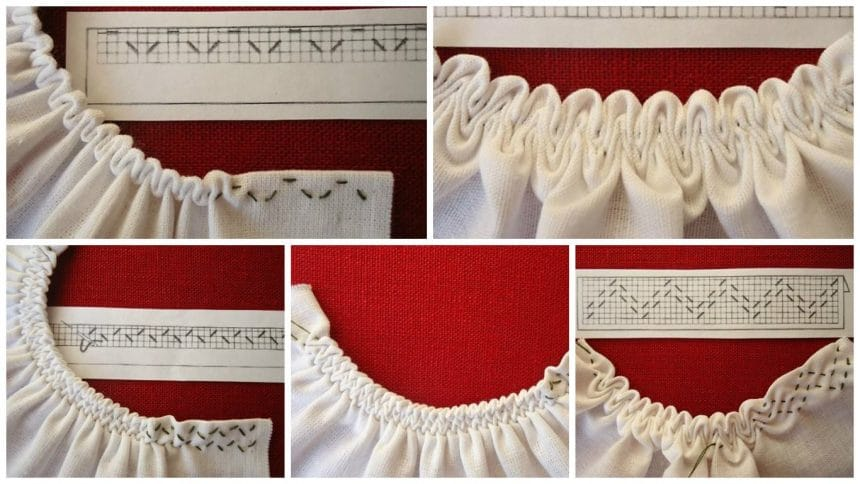 How to sew beautiful scalloped edge for forck