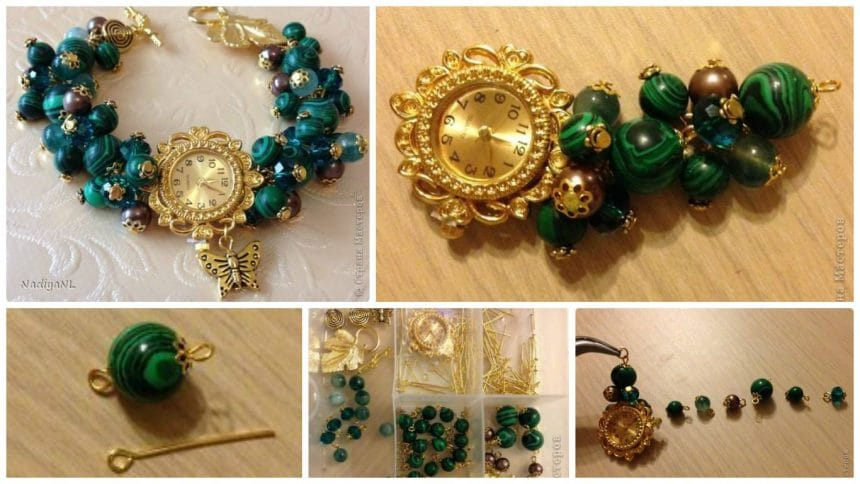 How to creating a bracelet of beads and clocks