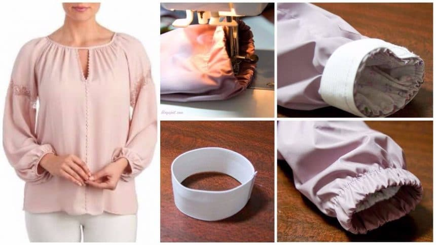 How to sew an elastic sleeves bottom