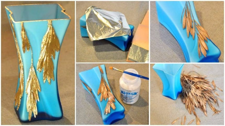 """How to make """"golden rain"""" glass vase"""