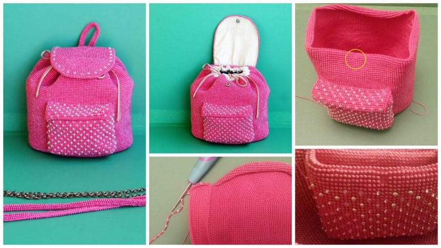 How to make bead backpack