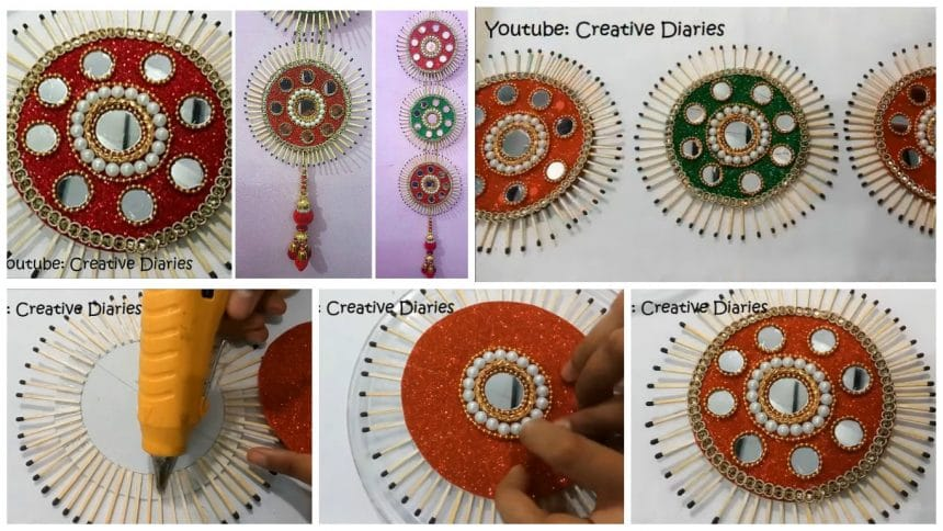 How to make matchstick wall hanging