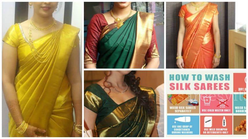 maintain silk sarees