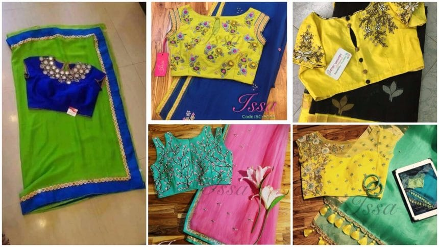 Different types of blouse with sarees