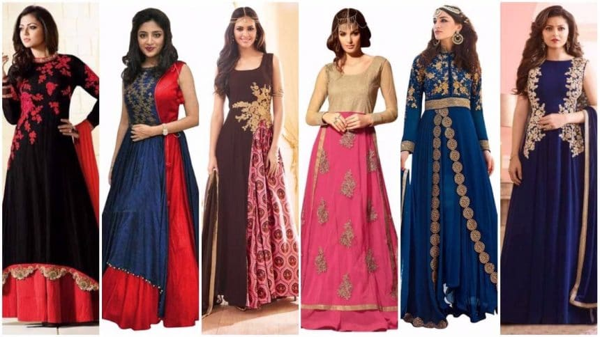 Different types of  long anarkali salwar and suits
