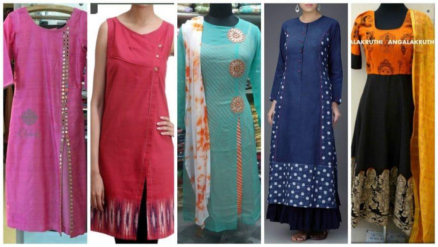 Different types of kurthi patterns