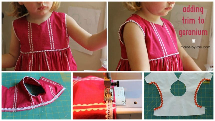How to make geranium dress