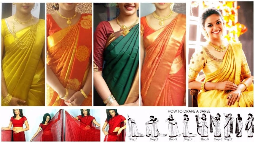 How to wear saree easily within 5 minutes