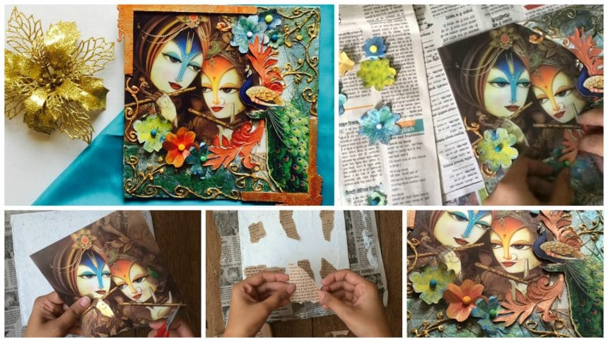 How to make mixed media collage