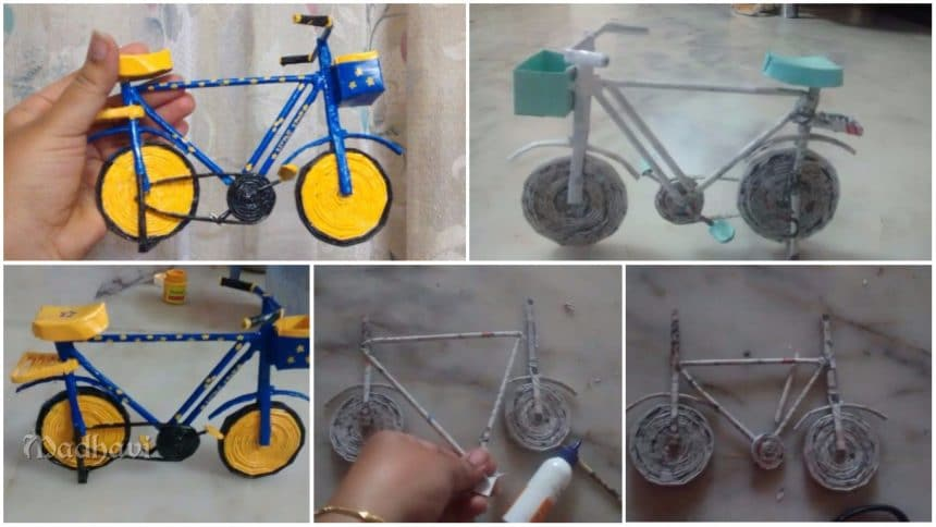 bicycle from newspaper tube