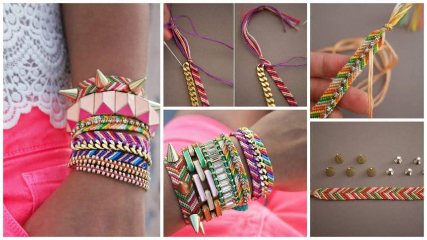How to make embellished friendship bracelets