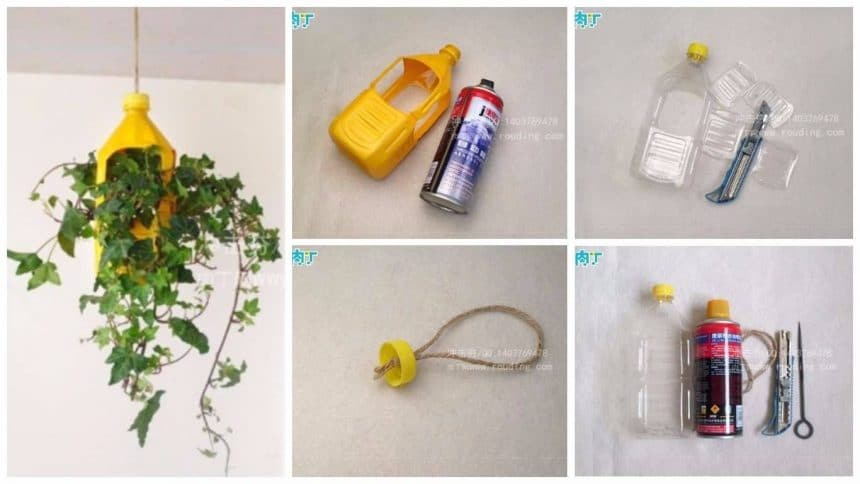 How to make flower pots from plastic bottle