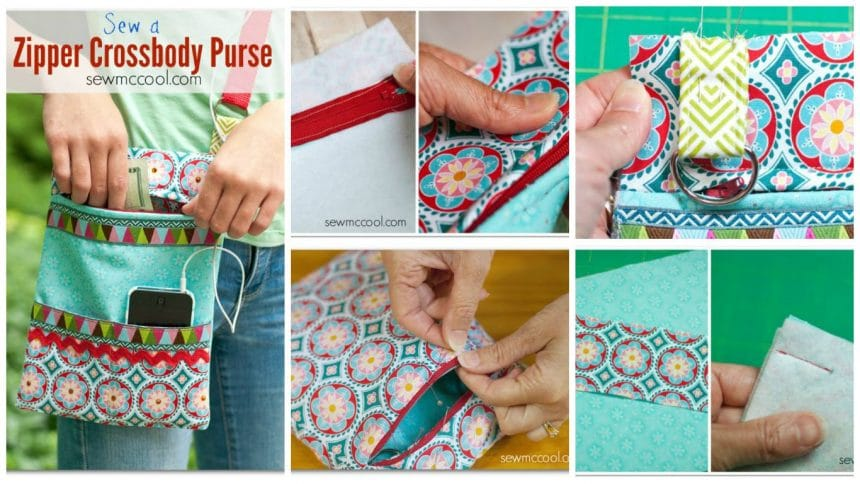 How to sew a crossbody purse with a zipper