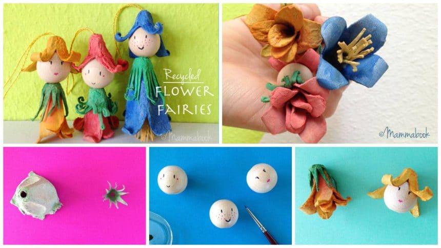 How to make flower fairies from egg carton boxes
