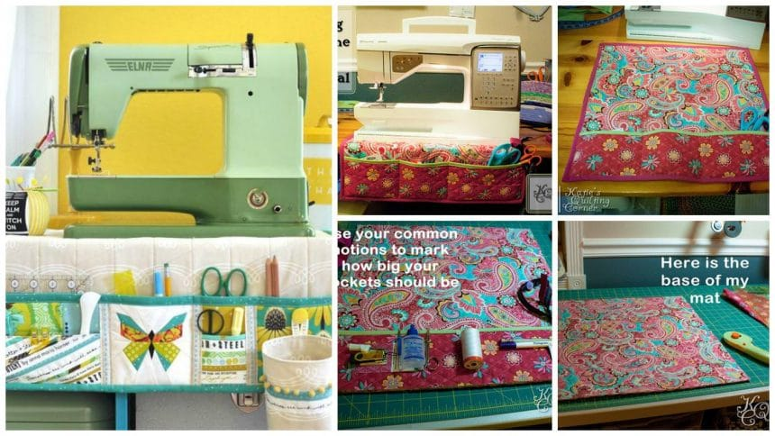 How to sew a sewing machine mat