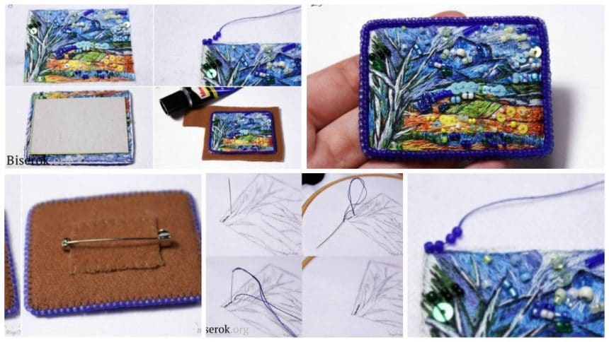 How to make brooch in the painting