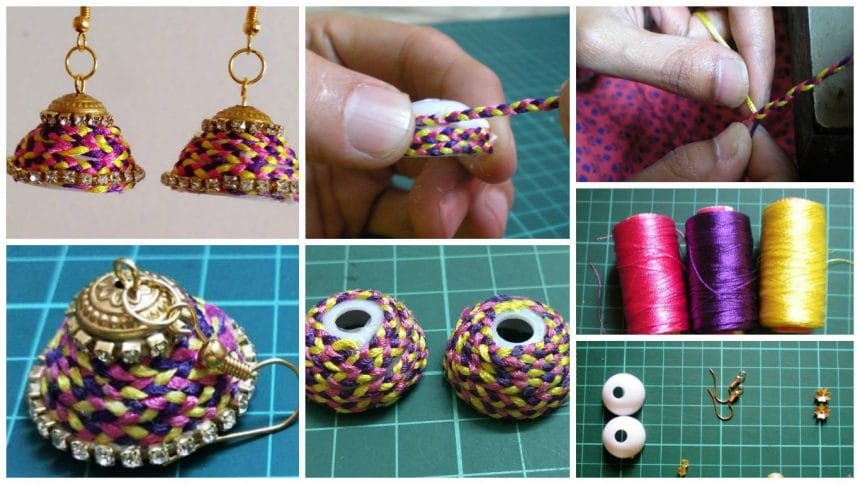 How to make braided silk earrings
