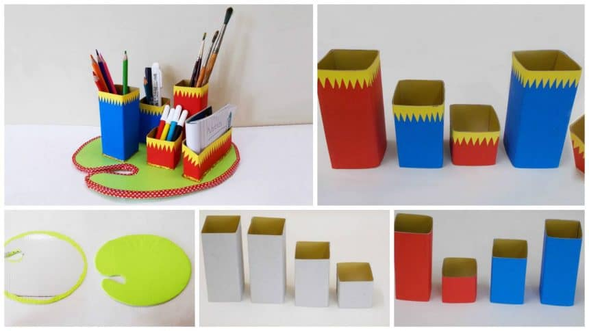 How to make desk organizer
