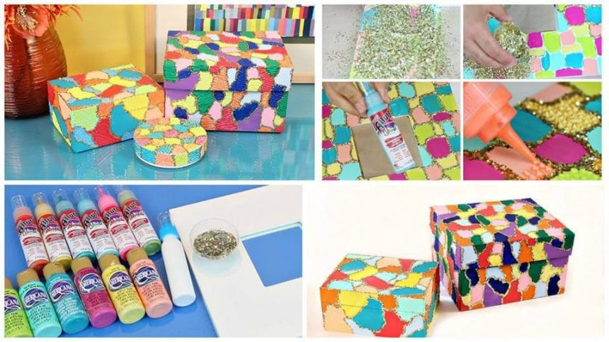 How to make magical mosaic box