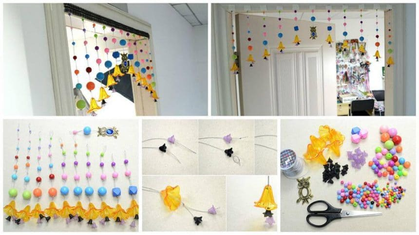 How to make beaded curtain