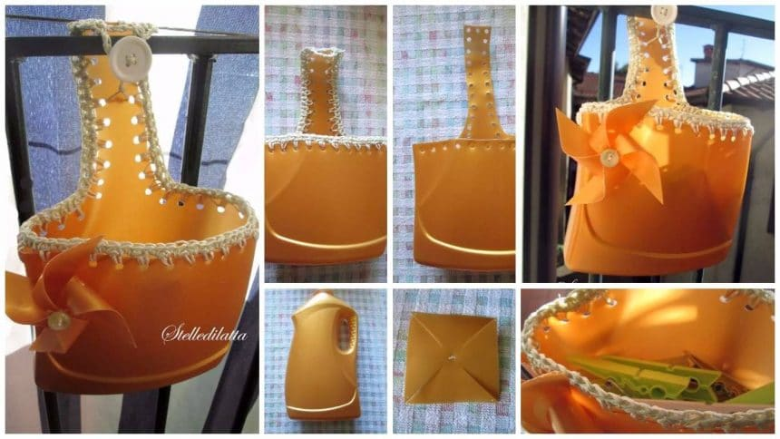 How to make an organizer for cloth clip from plastic bottle