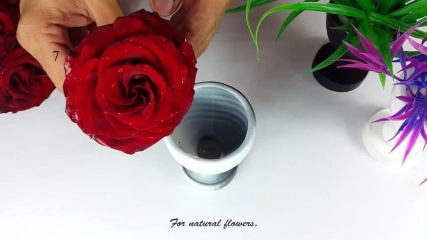 Flower Vase Out of Plastic Bottle