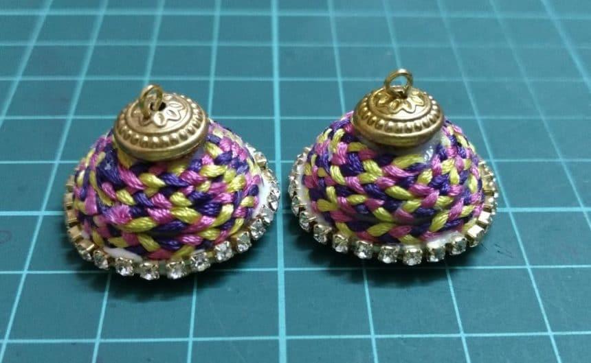 braided silk earrings