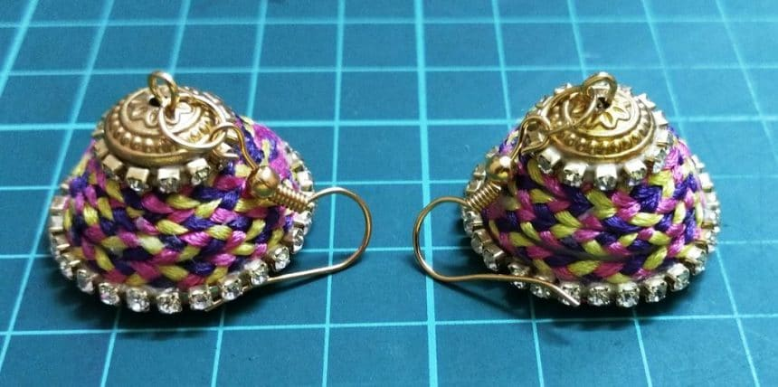 braided silk earrings
