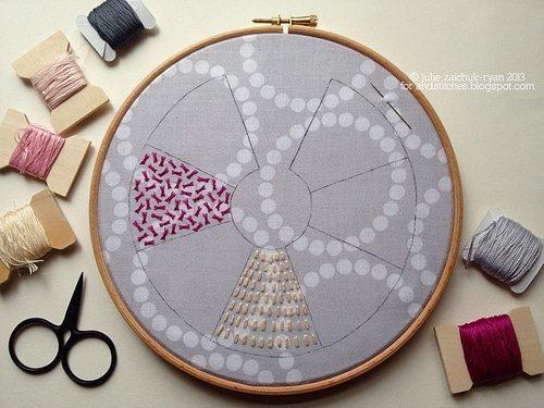 embroider Padded Satin stitch