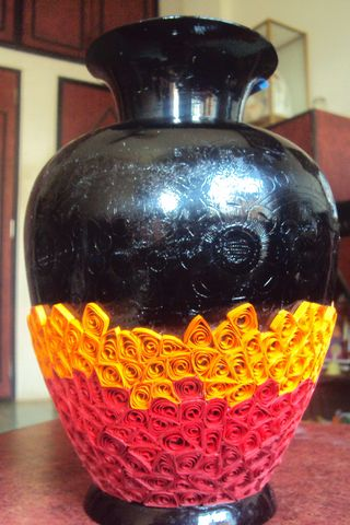 a quilling vase