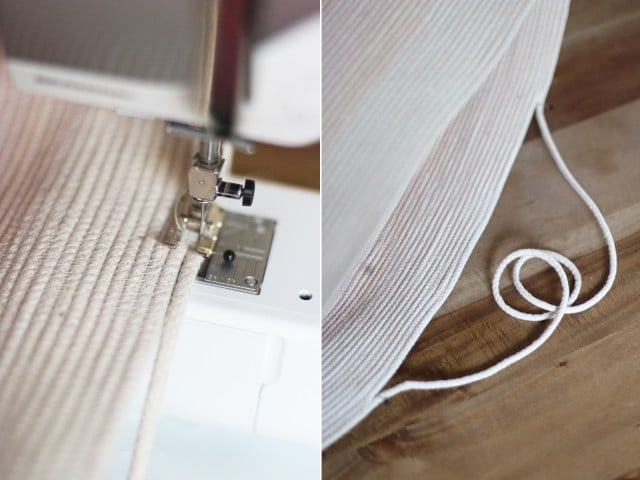 sew a rope bag
