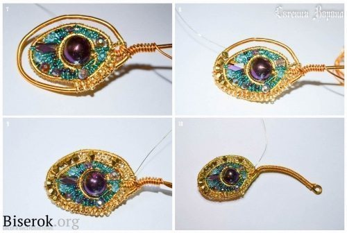 peacock feather from bead