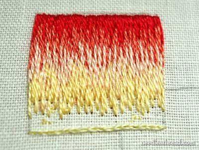 long and short stitch shading