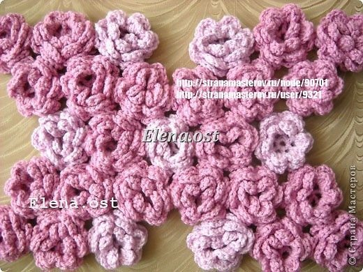 """""""Pink Rose"""" knitted bag"""